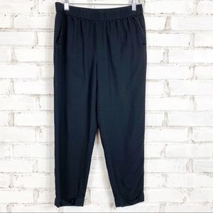 Madewell Black Cuffed Track Trousers | Size S